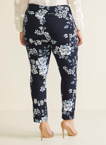 Joseph Ribkoff - Floral Print Slim Leg Pants, Blue,  pants, pull-on, city fit, slim leg, floral, bengaline, spring summer 2020