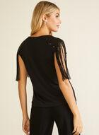 Sequin Fringe Detail Top, Black