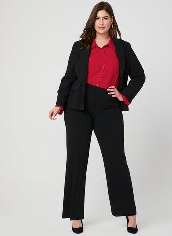 Louben - Pantalon coupe moderne, Noir,