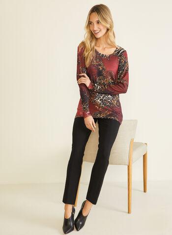 Vex - T-shirt animalier à manches longues, Rouge,  t-shirt, manches longues, animalier, automne hiver 2020