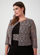 Crochet Lace Dress & Jacket, Black