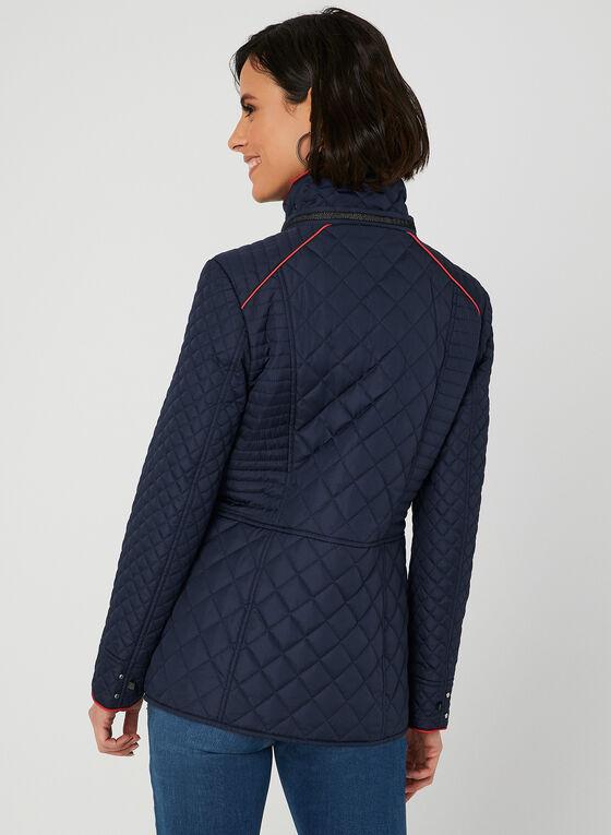 Novelti - Manteau matelassé à coutures contrastantes, Bleu, hi-res