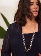 Tunique ouverte en tricot léger, Bleu