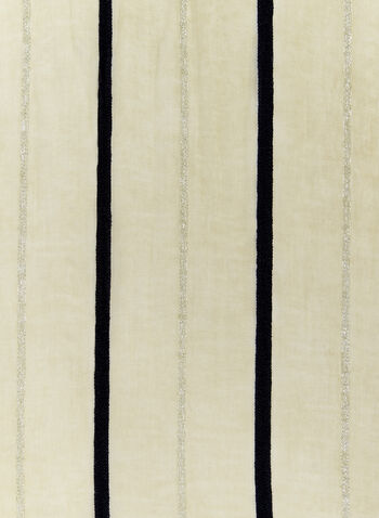 Metallic Stripe Wrap, Off White, hi-res
