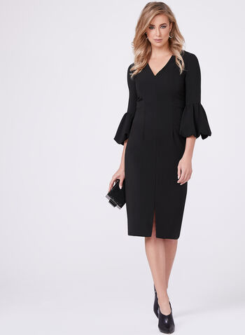Maggy London - Bell Sleeve Crepe Dress, , hi-res