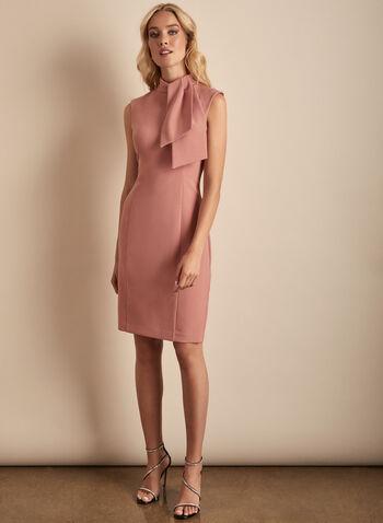 Harper Rose - Sleeveless Crepe Dress, Pink,  dress, cocktail dress, evening dress, Harper Rose, crepe, crepe dress, sleeveless, spring 2020, summer 2020