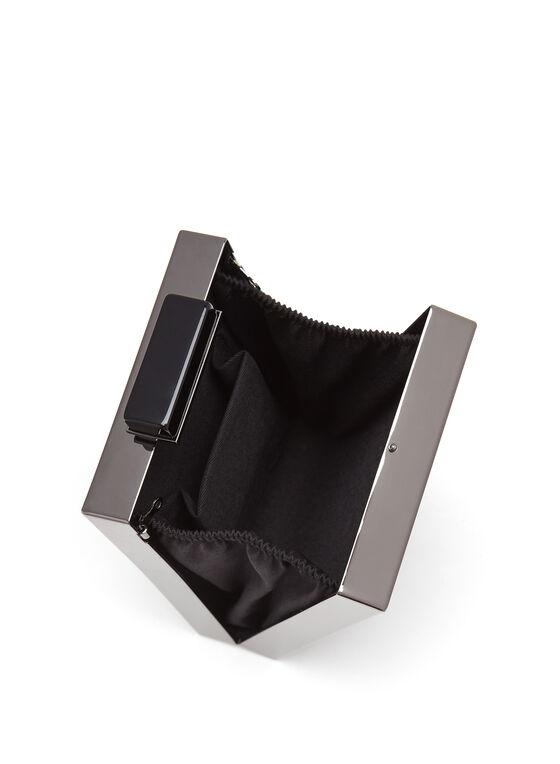Minaudière rectangulaire en maille à chaîne amovible, Noir, hi-res