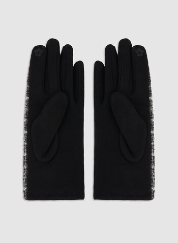Plaid Print Gloves, Black, hi-res,  fall winter 2019, plaid print, gloves