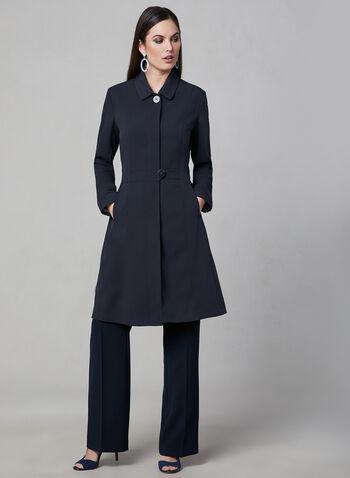Novelti - Fit & Flare Coat, Blue, hi-res