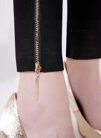 Frank Lyman - Zipper Trim Slim Leg Pants, , hi-res