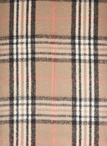 Plaid Print Scarf, Orange,  scarf, plaid print, plaid scarf, holiday, fall 2019, winter 2019
