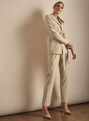 Vince Camuto - Belted Jacket, Brown,  Vince Camuto, jacket, belted jacket, long sleeves, utilitarian, tailored, spring 2020, summer 2020