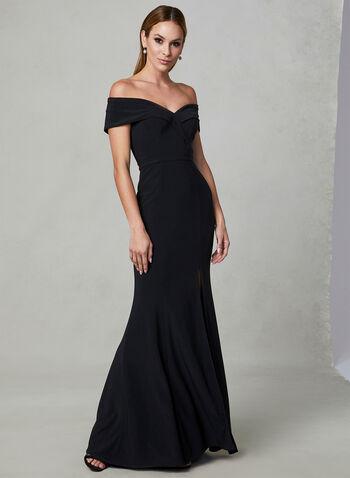 BA Nites - Off The Shoulder Dress, Black, hi-res