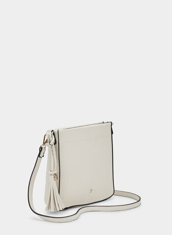 Square Crossbody Bag, Off White, hi-res,  crossbody, handbag, tassel, shoulder strap, spring 2019