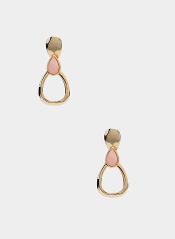 Door Knocker Earrings, Pink, hi-res
