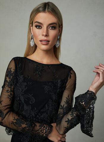 Joseph Ribkoff - Floral Lace Dress, Black, hi-res