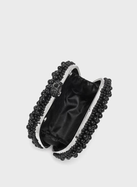 Pochette en perles, Noir, hi-res