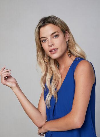 Sleeveless Chiffon Top, Blue, hi-res,  fall 2019, winter 2019, chiffon, sleeveless, layered