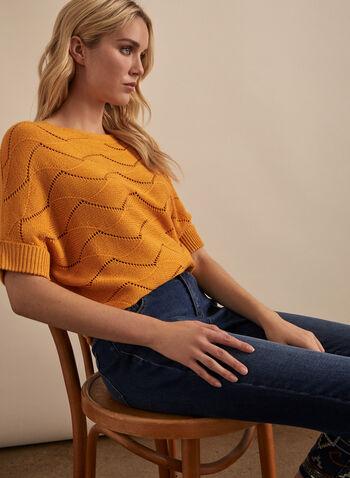 Knit Dolman Sleeve Sweater, Yellow,  spring summer 2019, dolman sleeves, boat neck, knit, crochet knit, high-low hem
