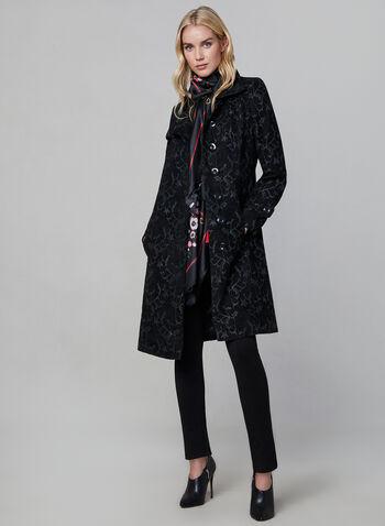Long Tapestry Coat, Black, hi-res,  fall winter 2019, long, tapestry
