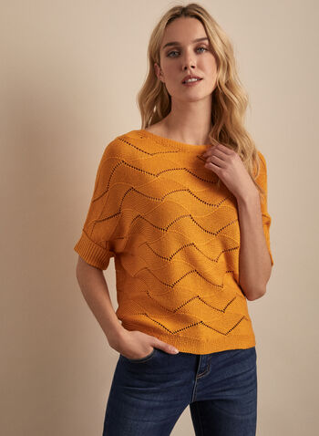 Knit Dolman Sleeve Top, Yellow,  spring summer 2019, dolman sleeves, boat neck, knit, crochet knit, high-low hem