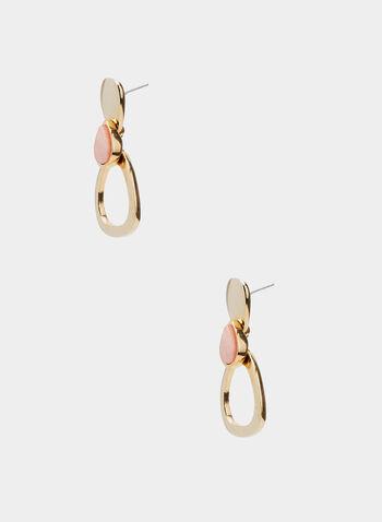 Boucles d'oreilles avec insertions de pierres, Rose,  printemps 2019