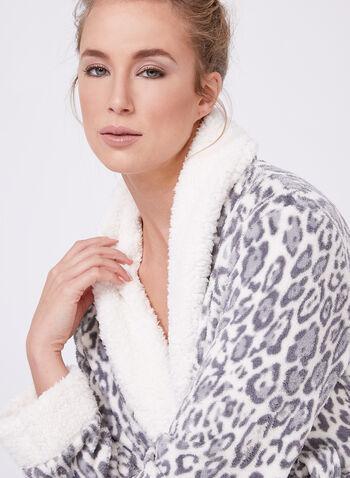 Leopard Print Bathrobe , , hi-res