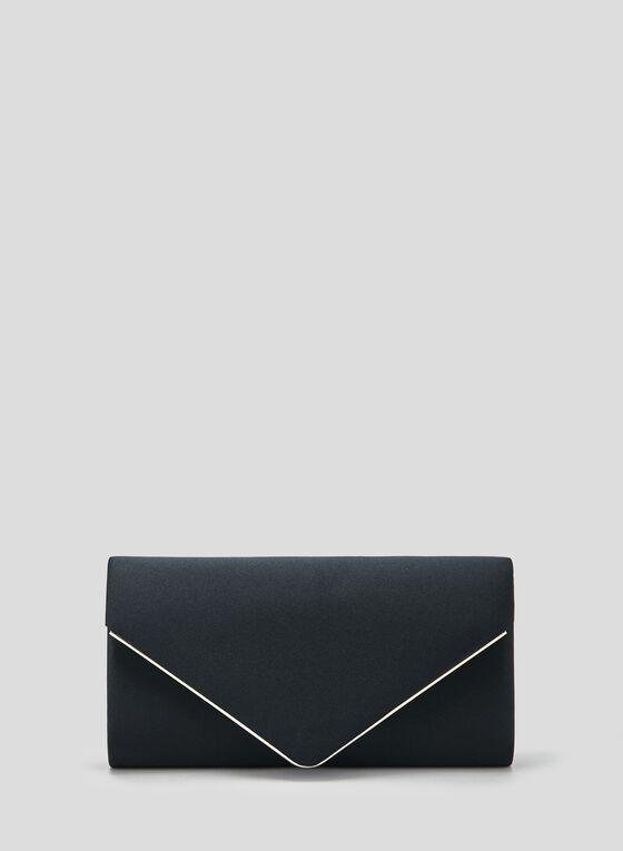Pochette enveloppe satinée, Bleu, hi-res