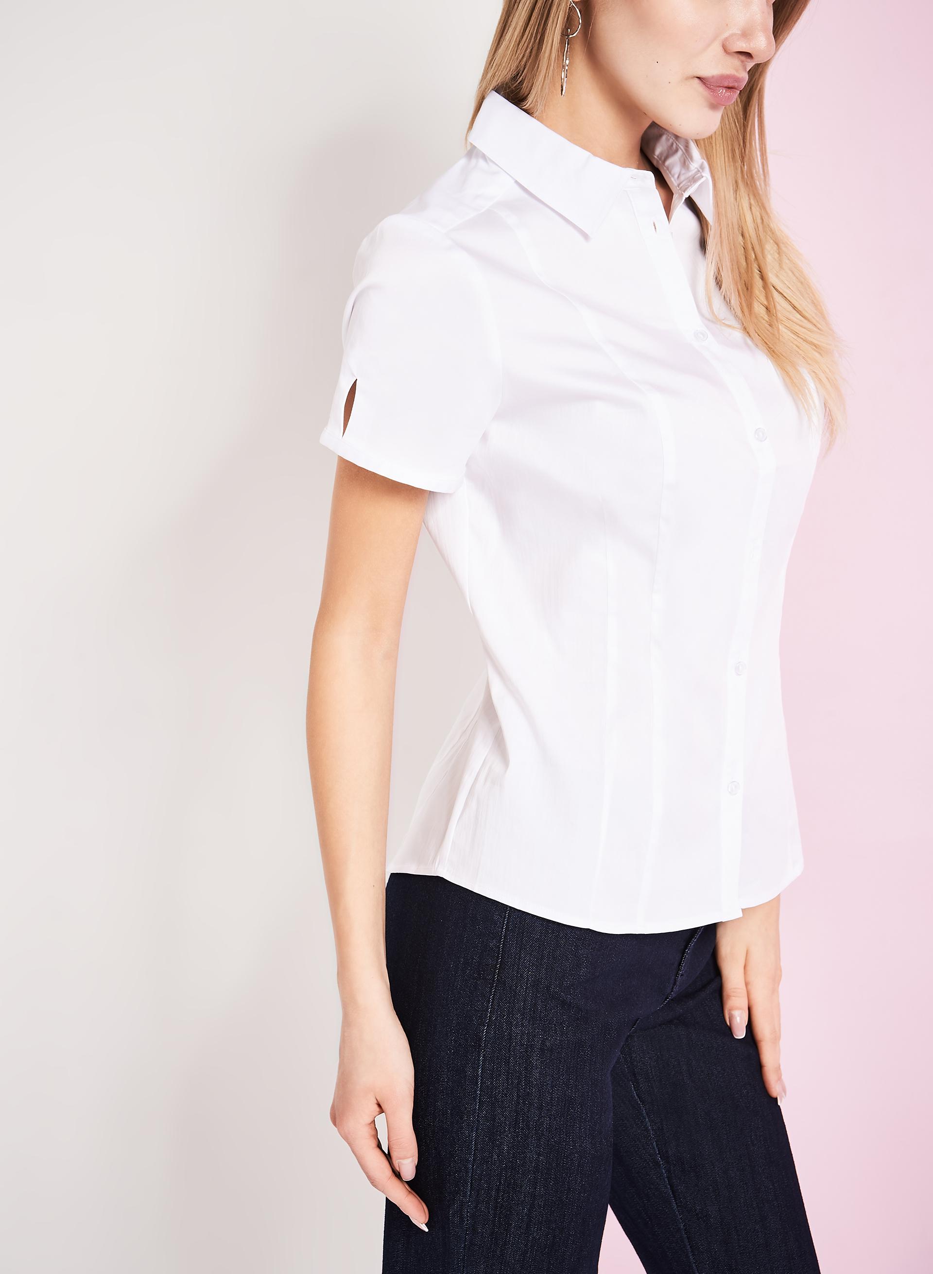 Short Sleeve Open Knit Cardigan by ellos®| Plus Size Tops