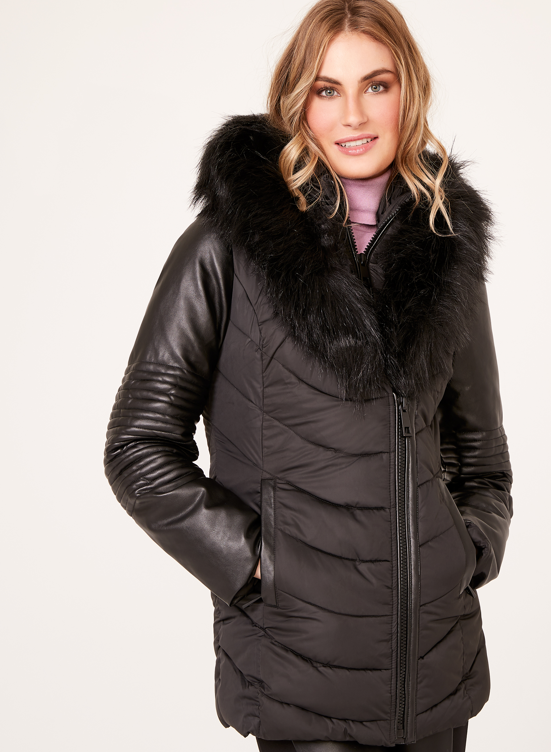 cargo walmart jacket with ip quilted com s sleeves women plus leather faux size quilt