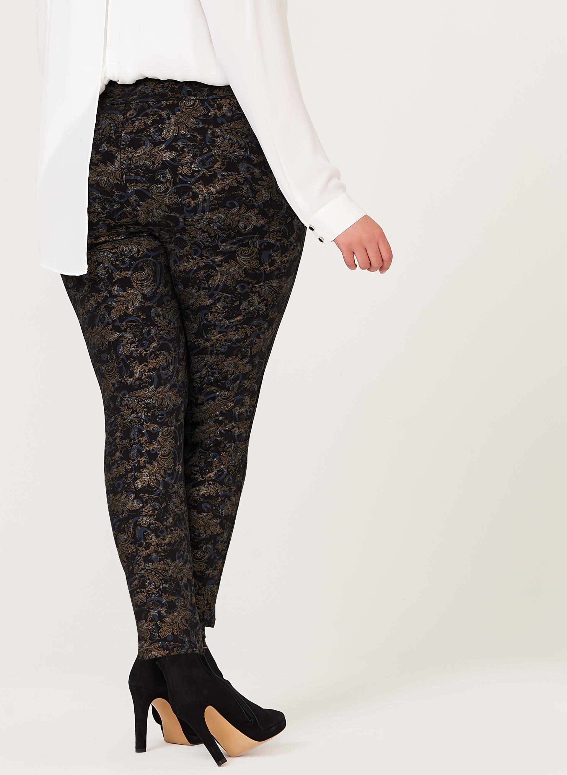 Pantalon pull on motif tapisserie laura - Motif tapisserie ...
