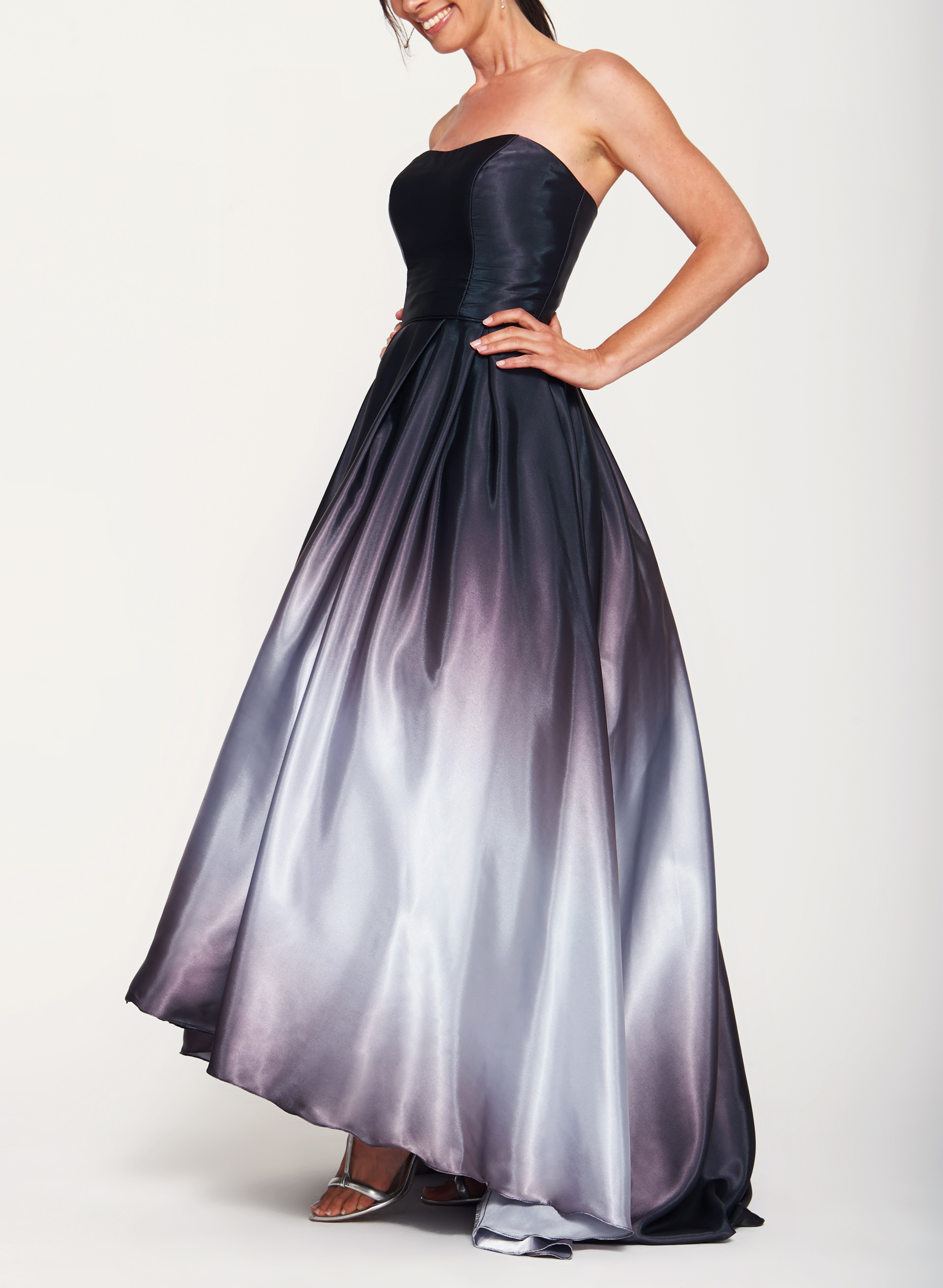 Ombr 233 High Low Satin Ball Gown Laura