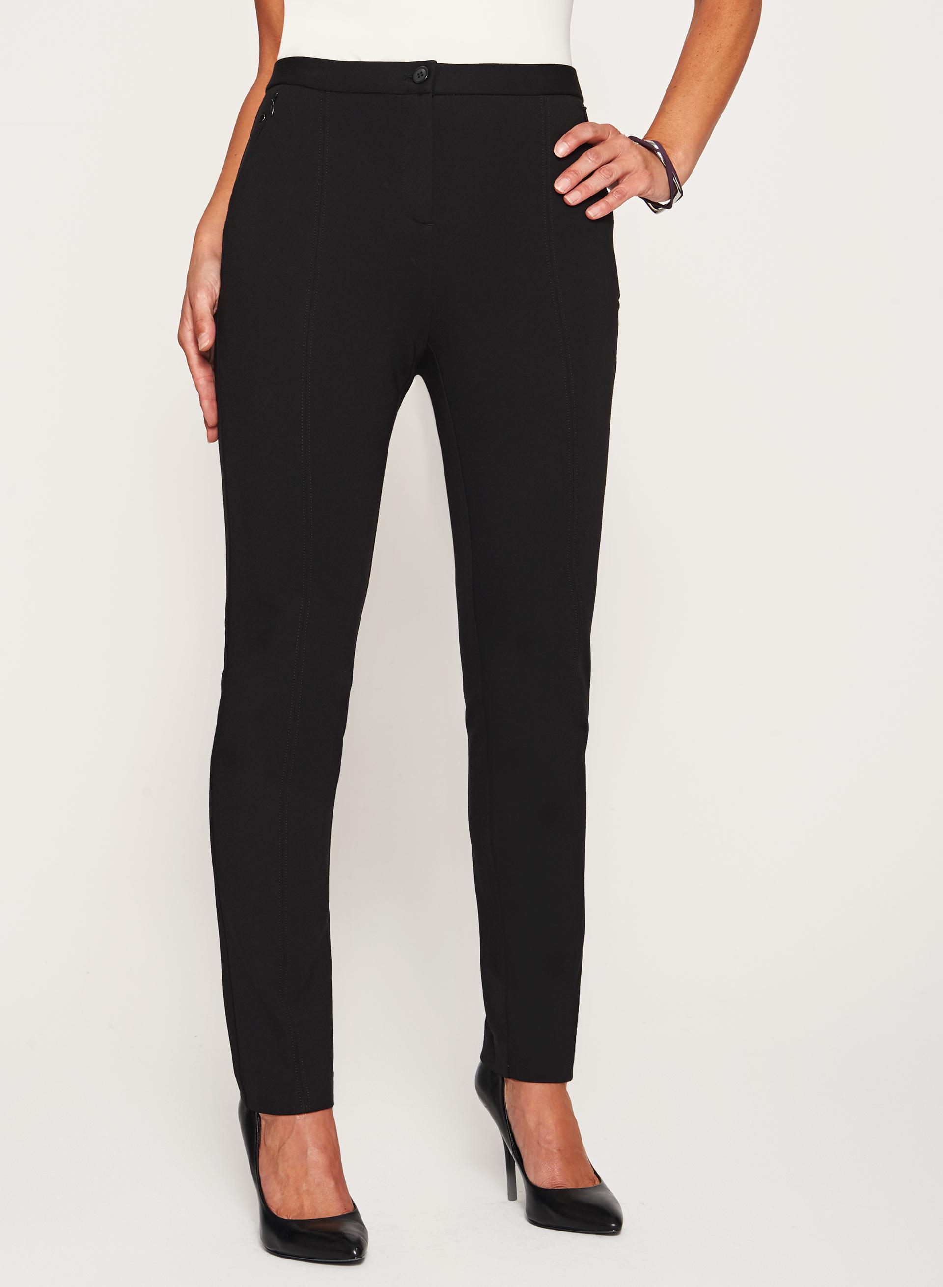 Signature Fit Slim Leg Ponte Pants | Laura