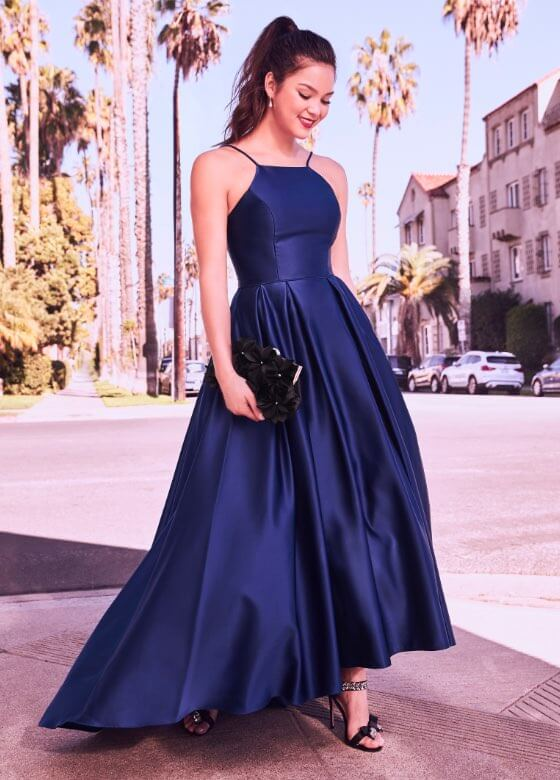 Laura - Prom Dresses 2019 - Fit & Flare Satin Ball Gown