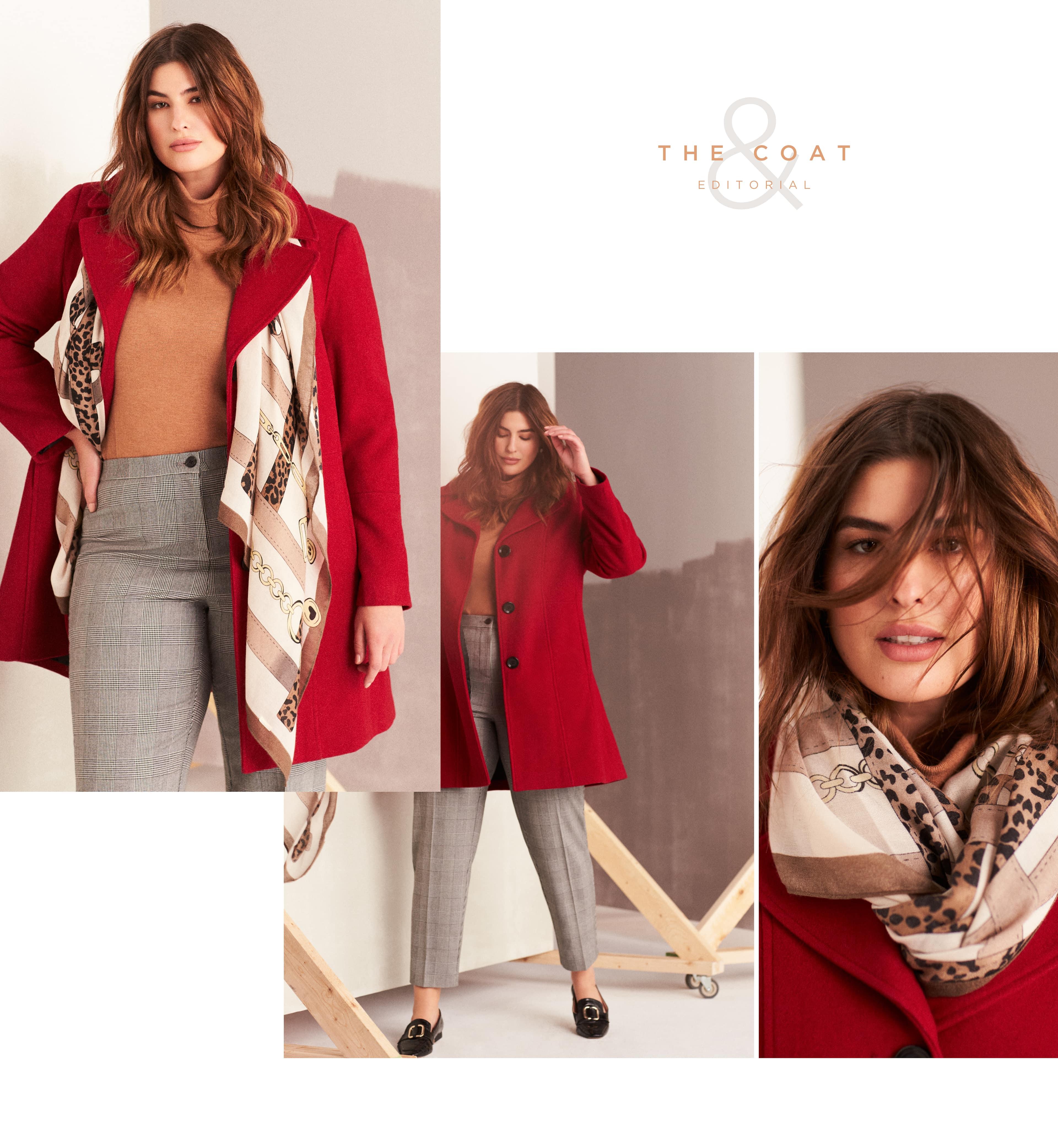 Wool-Blend Notch Collar Coat