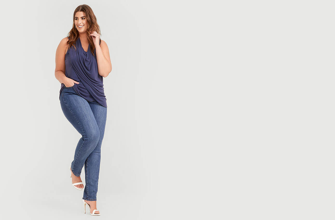 39894eeed68 ... Shop Laura Plus Jeans Pull-On