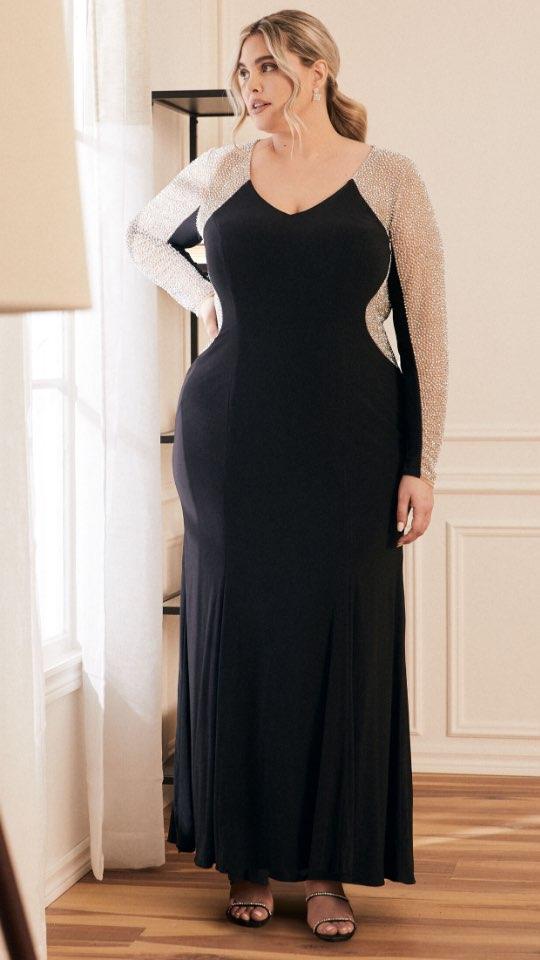 Embellished Long Sleeve Dress