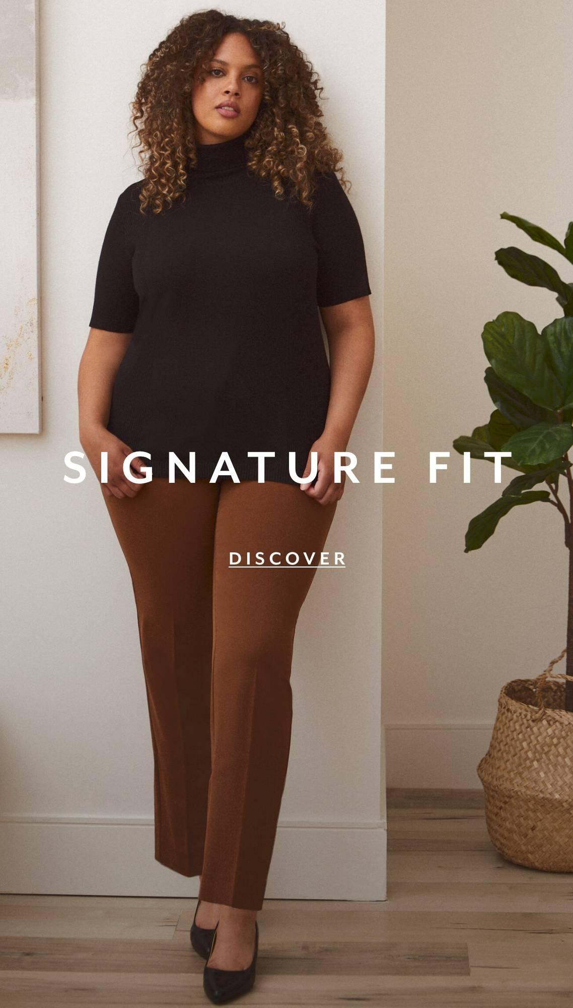 Shop Plus Pants Signature Fit