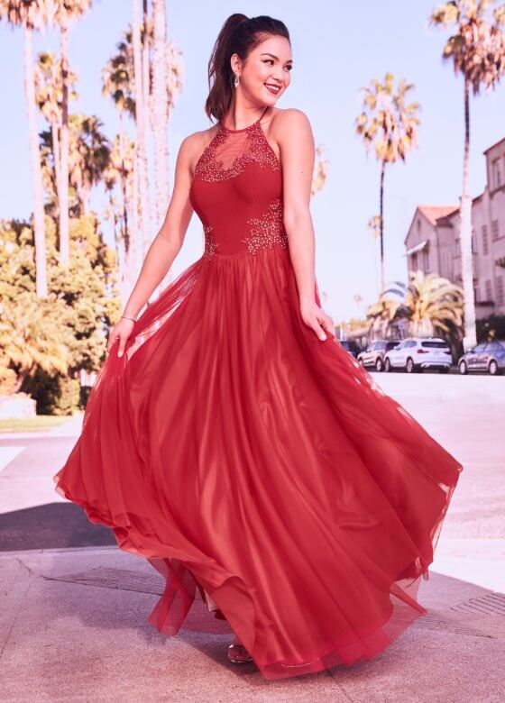 Laura - Prom Dresses 2019 - Illusion Neck Mesh Ball Gown