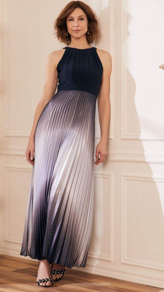 Pleated Ombré Dress