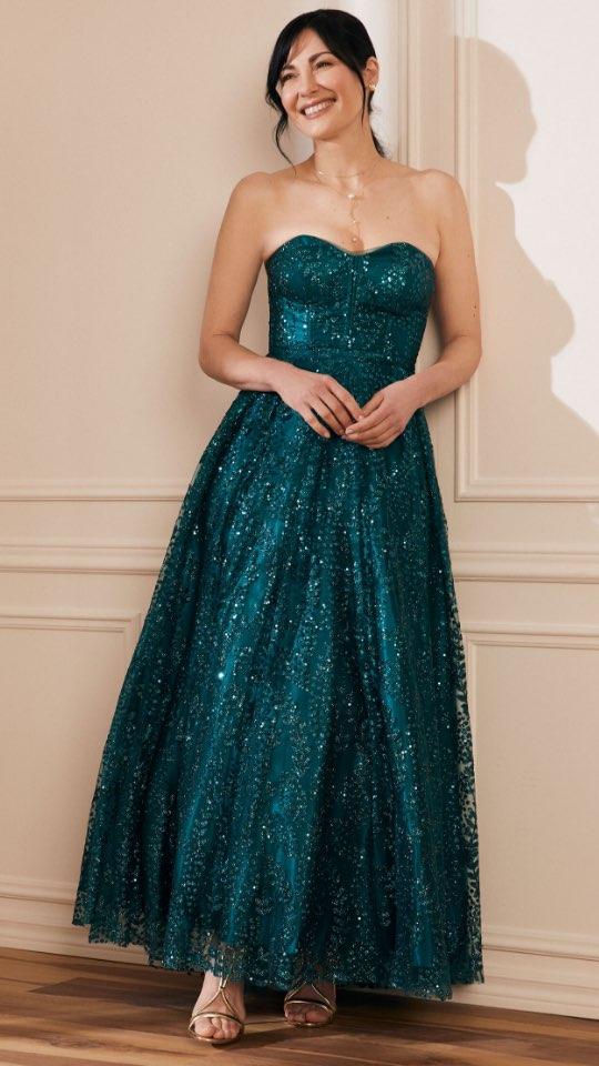 Bustier Glitter Ball Gown