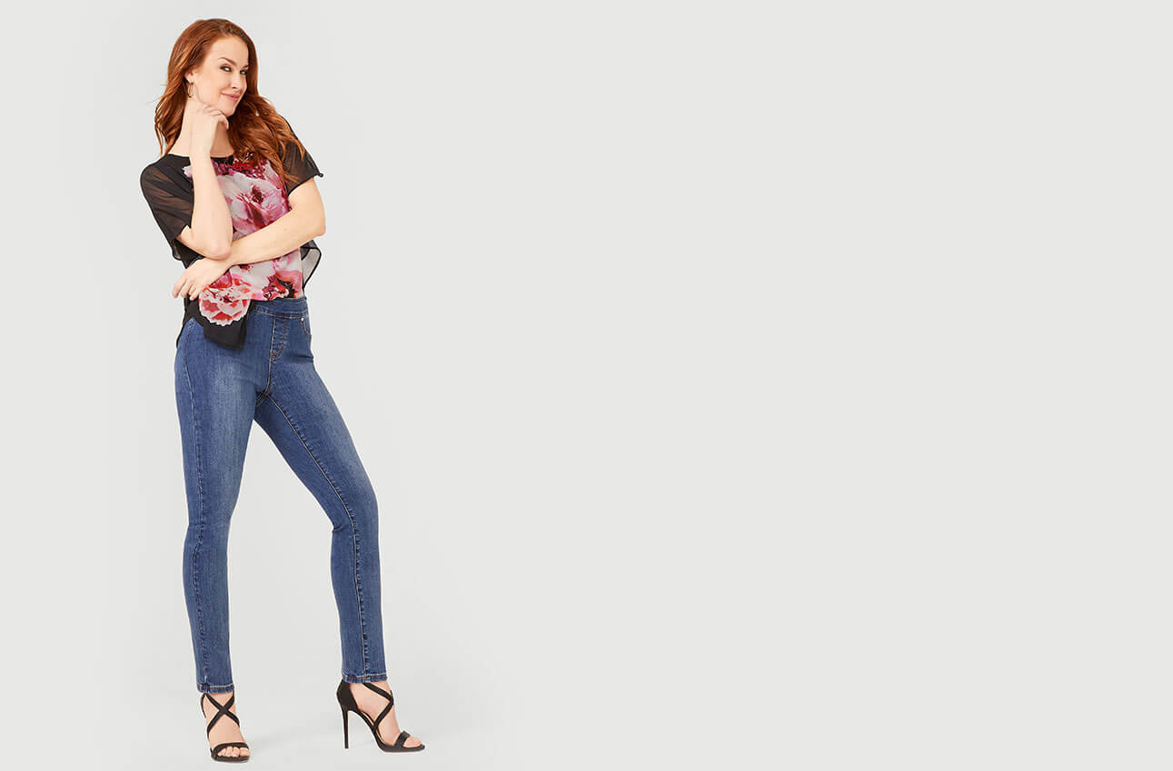 Shop Laura Jeans Pull-On