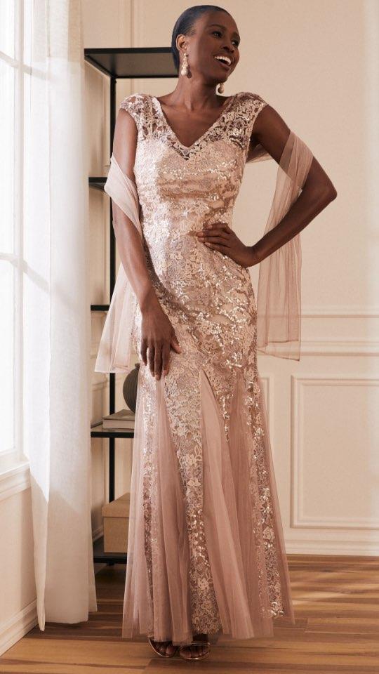 Alex - Sequin Lace & Mesh Dress