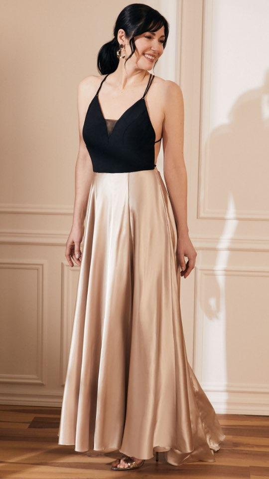 Jersey & Satin A-Line Dress