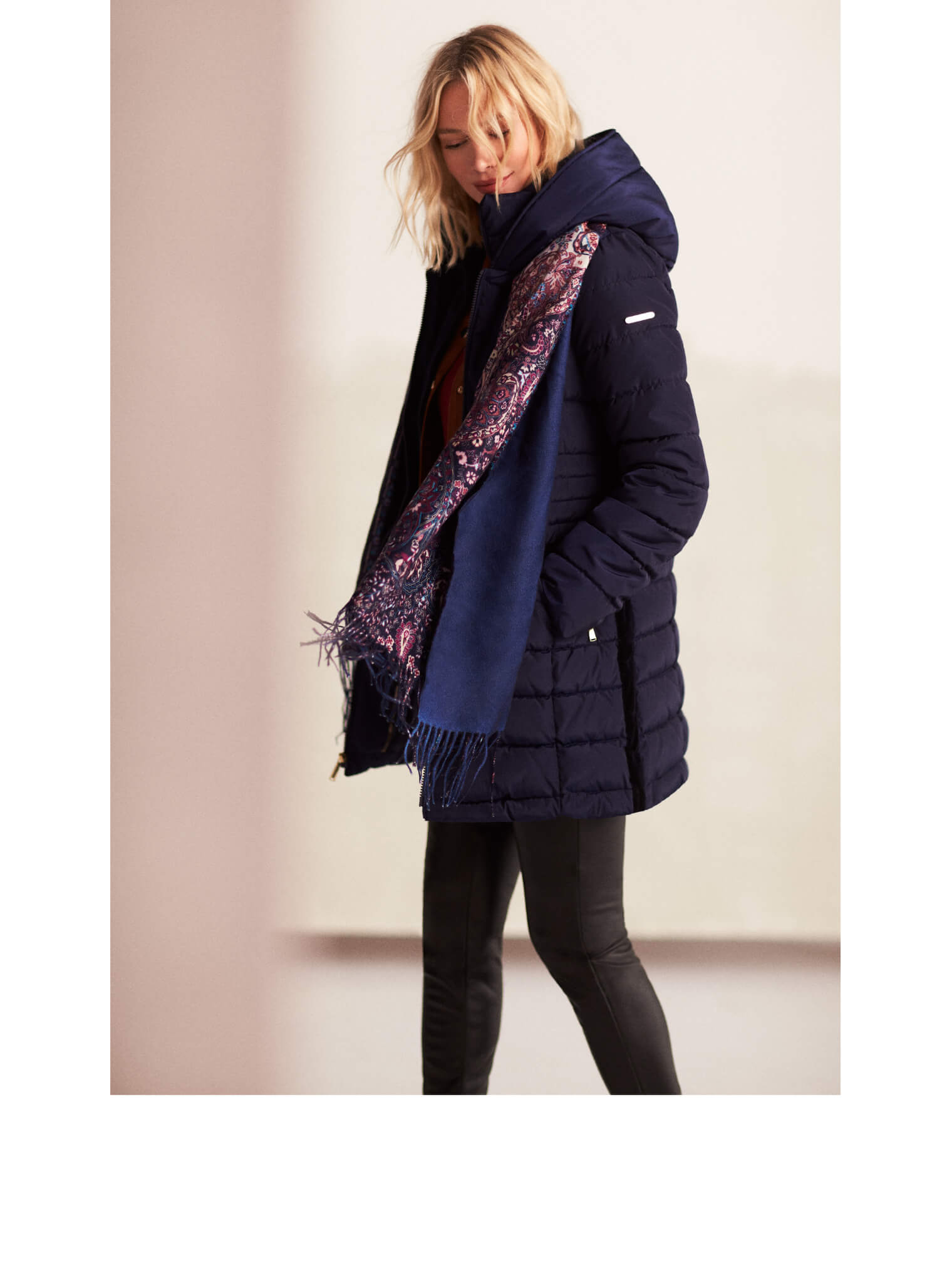 Quilted Mid-Legth Coat