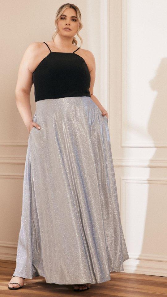 Jersey & Glitter Dress