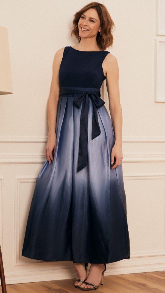 Ombre Skirt Sleeveless Dress