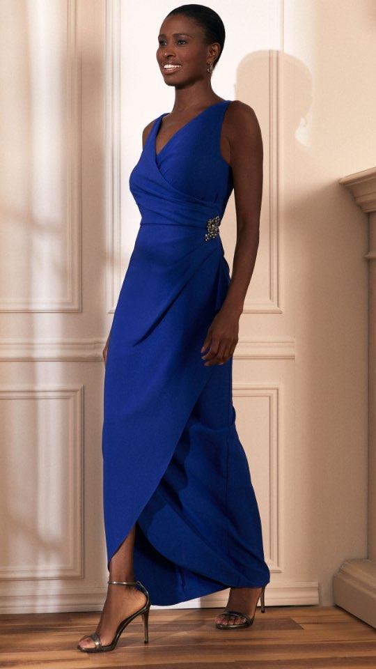 Wrap Evening Dress