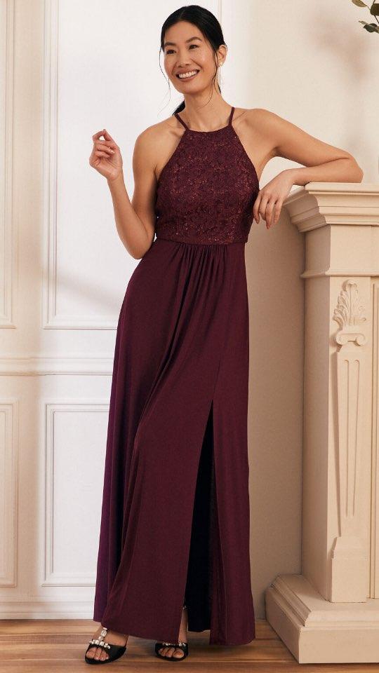 Lace & Sequin Bodice Dress