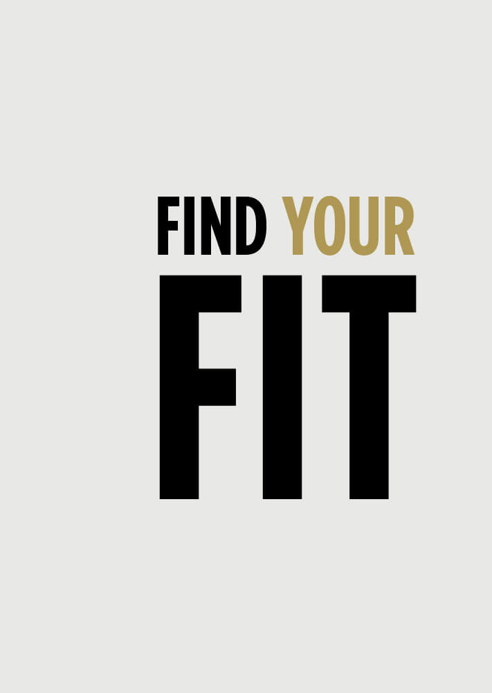 Find your fit